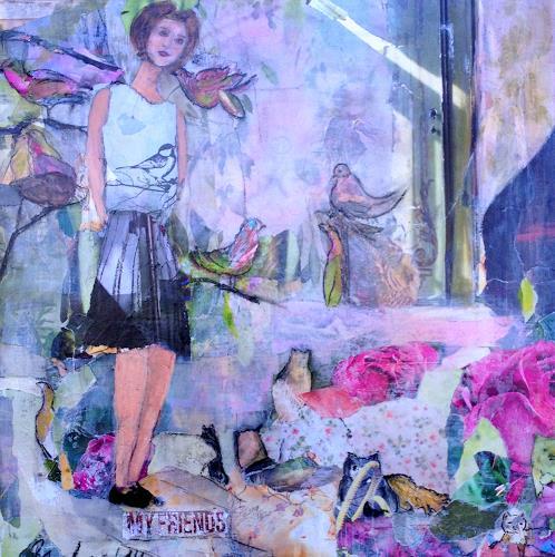 Regina Bucher, My Friends, People: Women, Animals: Land, Expressionism