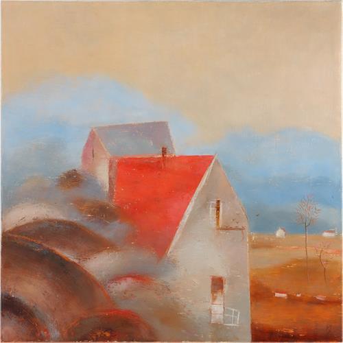 Kestutis Jauniskis, Rain Is Over, Landscapes: Summer, Architecture, Action Painting, Expressionism