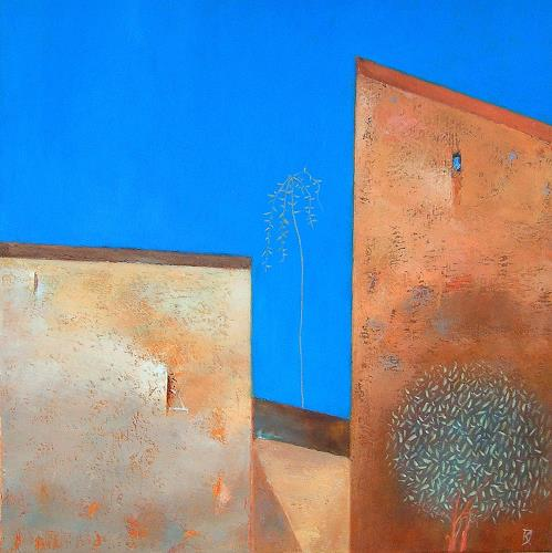 Kestutis Jauniskis, Two Different Forms, Architecture, Buildings: Houses, Bauhaus, Abstract Expressionism