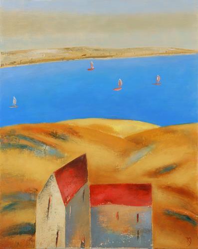 Kestutis Jauniskis, Sea Dunes, Times: Summer, Leisure, Action Painting