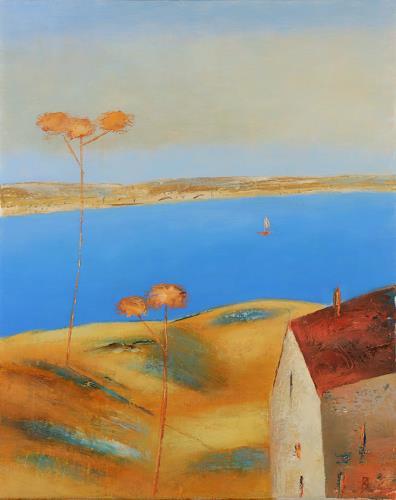 Kestutis Jauniskis, Sea Dunes 1, Landscapes: Beaches, Action Painting, Expressionism