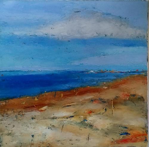 Kestutis Jauniskis, Seaside Landscape, Landscapes: Beaches, Action Painting, Expressionism