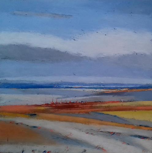 Kestutis Jauniskis, The Lake Coast, Landscapes: Beaches, Abstract Art, Expressionism
