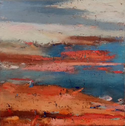 Kestutis Jauniskis, Abstraction 8, Landscapes: Plains, Colour Field Painting, Expressionism