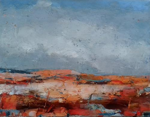Kestutis Jauniskis, Abstraction 9, Landscapes: Plains, Colour Field Painting, Expressionism