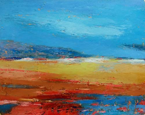 Kestutis Jauniskis, Abstraction 11, Landscapes: Hills, Action Painting