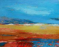Kestutis-Jauniskis-Landscapes-Hills-Modern-Age-Abstract-Art-Action-Painting