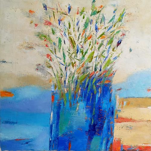 Kestutis Jauniskis, Flowers 1, Plants: Flowers, Action Painting