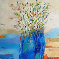Kestutis-Jauniskis-Plants-Flowers-Modern-Age-Abstract-Art-Action-Painting