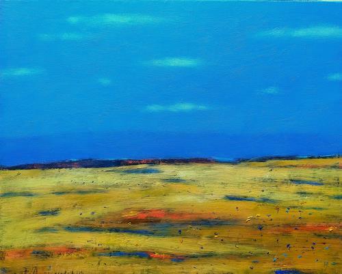 Kestutis Jauniskis, Landscape 13, Landscapes: Hills, Action Painting, Expressionism