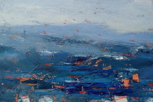Kestutis Jauniskis, Abstraction 13, Landscapes: Hills, Action Painting, Expressionism