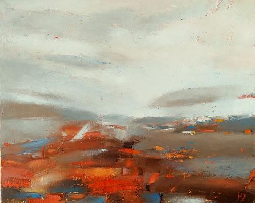 Kestutis Jauniskis, Abstraction 15, Landscapes: Hills, Action Painting