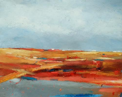 Kestutis Jauniskis, Abstraction 18, Landscapes: Hills, Colour Field Painting, Expressionism