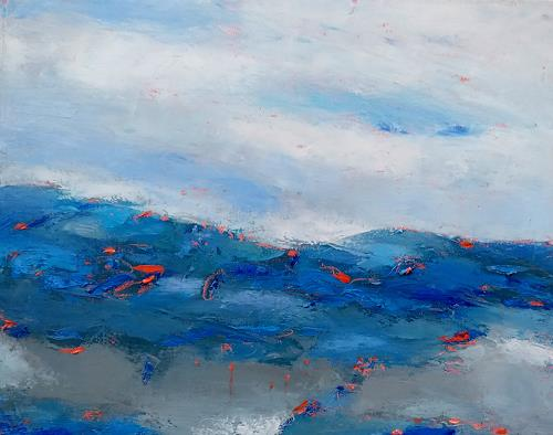 Kestutis Jauniskis, Abstraction 19, Landscapes: Hills, Colour Field Painting, Expressionism