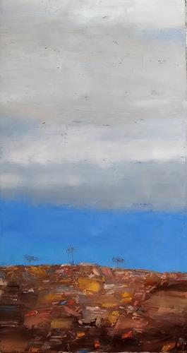 Kestutis Jauniskis, Abstraction 21, Landscapes: Hills, Action Painting