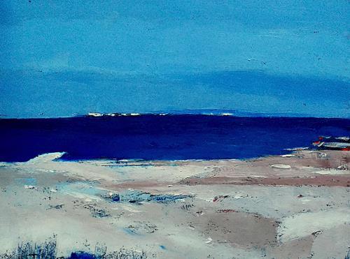 Kestutis Jauniskis, Winter Nera The Sea, Landscapes: Sea/Ocean, Action Painting, Expressionism