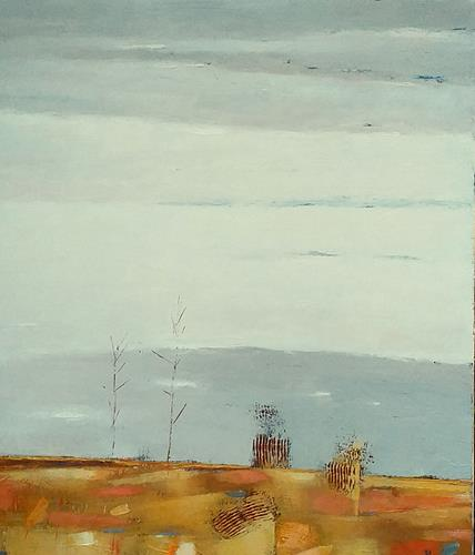 Kestutis Jauniskis, Landscape With Trees, Landscapes: Hills, Colour Field Painting, Expressionism