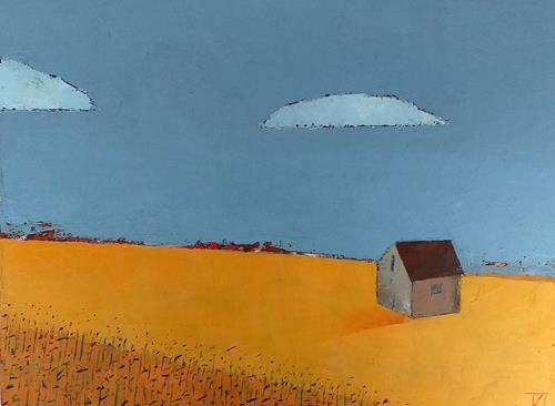 Kestutis Jauniskis, Fields In Autumn, Landscapes: Autumn, Colour Field Painting, Expressionism