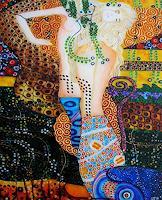 G. Stavar, replica by Klimt - Water serpents I