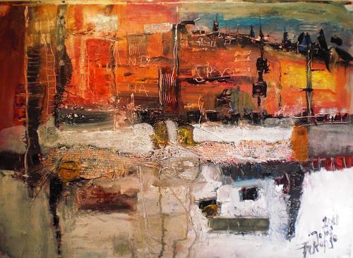 Josef Fekonja, Zeitsprung, Abstract art, Architecture, Abstract Art