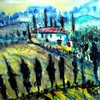 Josef-Fekonja-Abstract-art-Landscapes-Spring