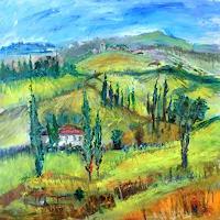 Josef-Fekonja-Landscapes-Hills-Abstract-art-Modern-Age-Expressionism