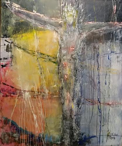 Josef Fekonja, Gekreuzigter, Abstract art, Belief, Contemporary Art, Abstract Expressionism