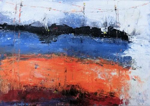 Josef Fekonja, ohne Titel, Abstract art, Landscapes, Abstract Art