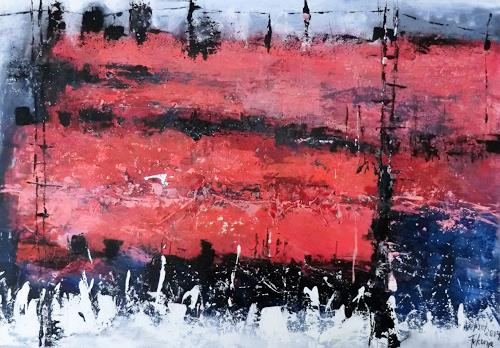 Josef Fekonja, ohne Titel, Abstract art, Landscapes, Abstract Art