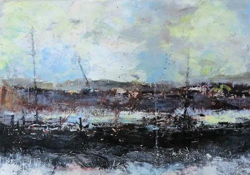 Josef Fekonja, ohne Titel, Abstract art, Landscapes, Abstract Art, Abstract Expressionism