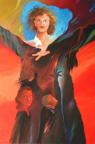 Marian Czura, Für Elise, People, Fantasy, Neue Sachlichkeit, Abstract Expressionism