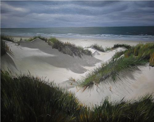 Svantje Miras, Borkum, Landscapes: Sea/Ocean, Landscapes: Beaches, Realism, Expressionism