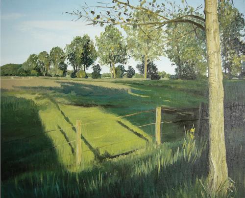 Svantje Miras, Weyerberg, Landscapes: Summer, Landscapes: Plains, Realism