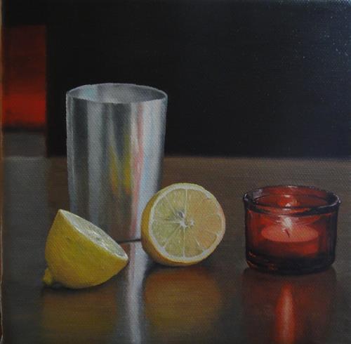 Svantje Miras, Stilleben 4, Still life, Meal, Realism, Expressionism