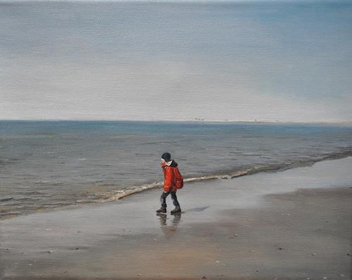 Svantje Miras, Borkum_02, Landscapes: Sea/Ocean, Landscapes: Beaches, Realism, Expressionism
