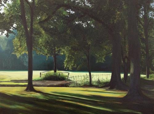 Svantje Miras, Bürgerpark in Bremen, Landscapes: Summer, Miscellaneous Landscapes, Realism, Expressionism