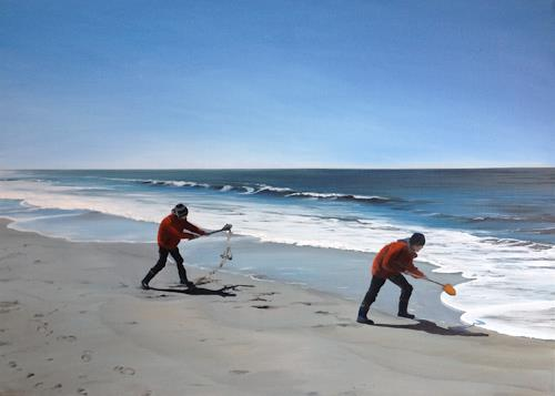 Svantje Miras, Sylt im April, Landscapes: Sea/Ocean, Landscapes: Beaches, Realism, Expressionism