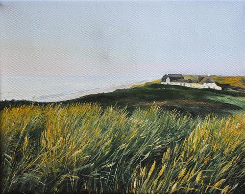 Svantje Miras, Sylt Kliffende, Landscapes: Sea/Ocean, Landscapes: Beaches, Realism, Expressionism