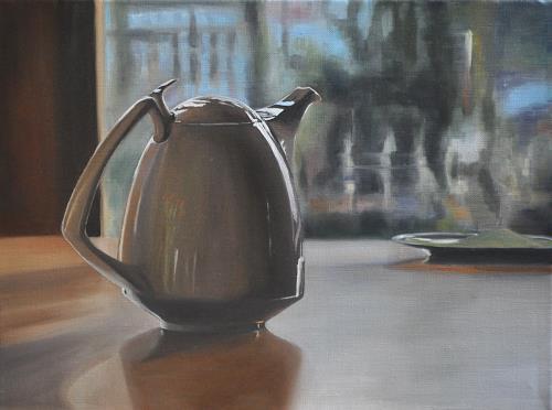 Svantje Miras, Gropius Kanne, Blick aus dem Fenster, Still life, Situations, Realism, Expressionism
