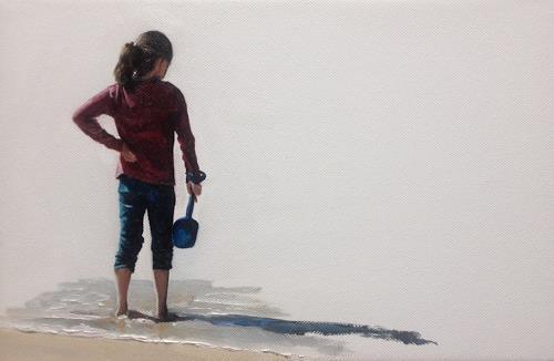 Svantje Miras, Mädchen am Strand, People: Children, Situations, Expressionism