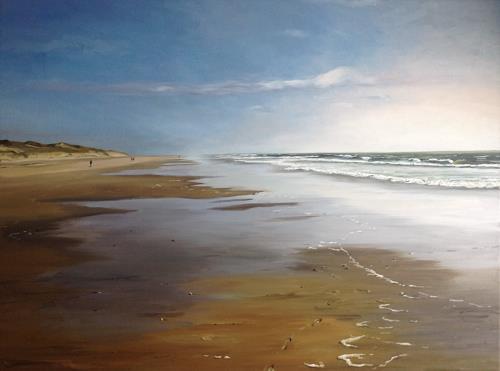 Svantje Miras, Weite, Wasser, Wellen (Sylt), Landscapes: Sea/Ocean, Landscapes: Beaches, Expressionism