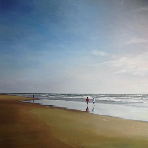 Svantje Miras, Paar am Strand, Sylt, II, Landscapes: Sea/Ocean, People: Couples