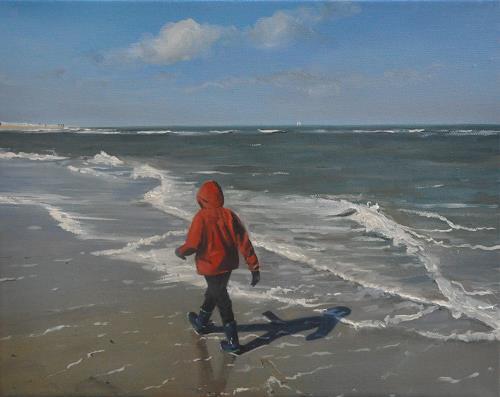 Svantje Miras, Strandspaziergang Sylt im Frühjahr, Landscapes: Sea/Ocean, Landscapes: Beaches, Realism, Expressionism