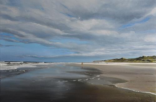 Svantje Miras, Sylt am Ellenbogen im April, Landscapes: Sea/Ocean, Landscapes: Beaches, Realism, Expressionism