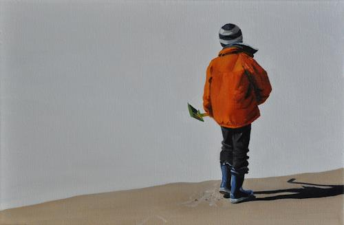 Svantje Miras, Miguel am Strand, People: Children, Miscellaneous Landscapes, Realism, Expressionism