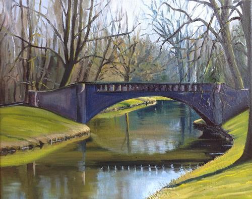 Svantje Miras, Brücke im Bürgerpark, Landscapes: Spring, Miscellaneous Landscapes
