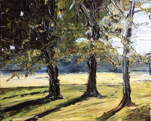 Svantje Miras, Bäume im Bürgerpark, Landscapes: Spring, Landscapes: Summer, Expressionism