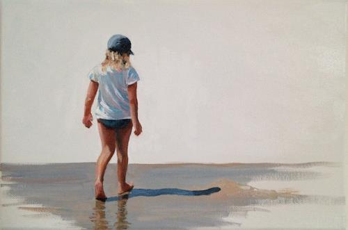 Svantje Miras, Mädchen am Strand, Landscapes: Sea/Ocean, Landscapes: Summer