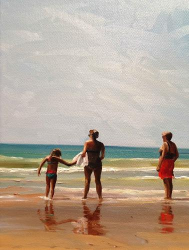 Svantje Miras, Drei Grazien, Ausschnitt, Landscapes: Sea/Ocean, Landscapes: Summer, Expressionism