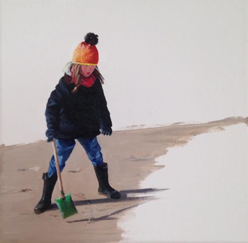 Svantje Miras, Kind am Strand, Landscapes: Sea/Ocean, Landscapes: Beaches